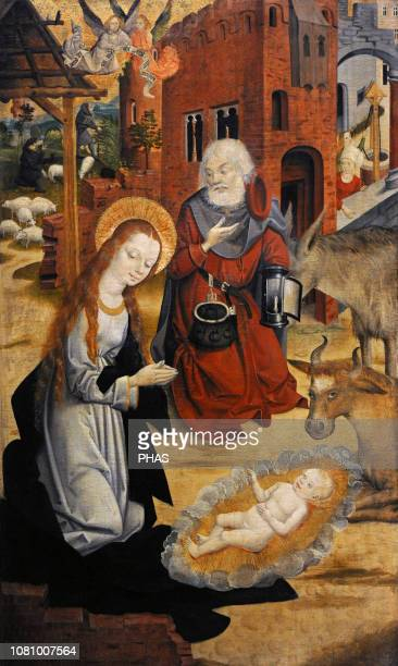 North German painter The Nativity of Christ Panel WallrafRichartz Museum Cologne Germany