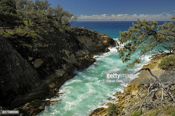 north gorge, north stradbroke island, redland city, queensland, australia - north stock pictures, royalty-free photos & images