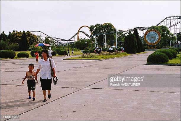 North Korea A Journey Into The Country Of Forbidden Photographs On August 2005 In Pyongyang North Korea Here Kim Sungland Mangyongdae Fairground In...