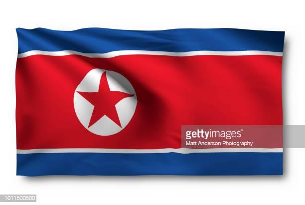 North Korea  - Democratic People's Republic of Korea Flag