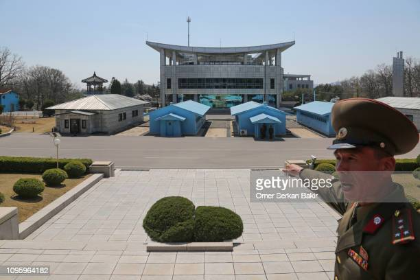 corea del norte, zona desmilitarizada panmunjom - corea del norte fotografías e imágenes de stock
