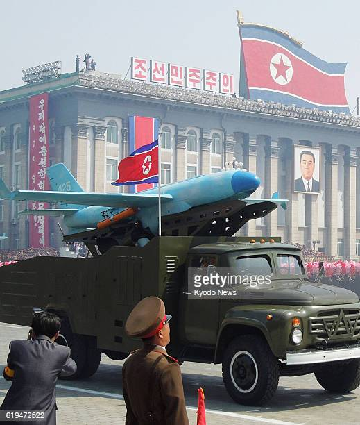 PYONGYANG North Korea File photo shows a North Korean unmanned air vehicle shown for the first time during a military parade in Kim Il Sung Square in...