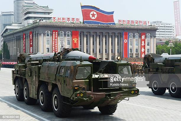 PYONGYANG North Korea File photo shows a Scud ballistic missile during a military parade at Kim Il Sung Square in Pyongyang in July 2013 North Korea...