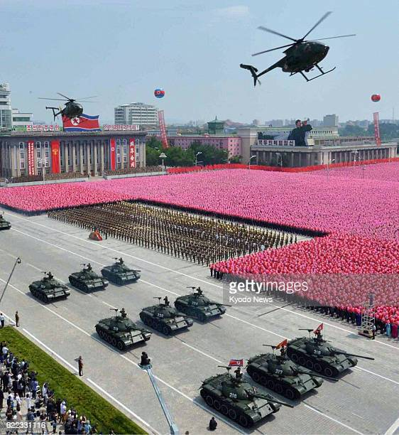 North Korea - North Korea holds a military parade in Kim Il Sung Square in Pyongyang on July 27 the 60th anniversary of the signing of a truce in the...