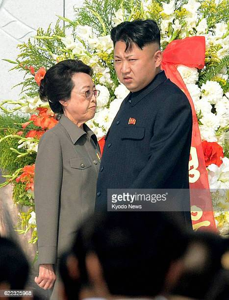PYONGYANG North Korea North Korean leader Kim Jong Un attends a ceremony marking the completion of a cemetery for soldiers who died during the Korean...