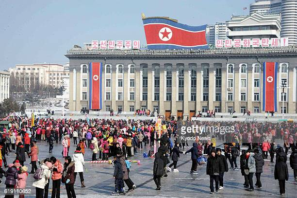 PYONGYANG North Korea North Koreans visit Kim Il Sung Square in Pyongyang on the Lunar New Year on Feb 10 2013