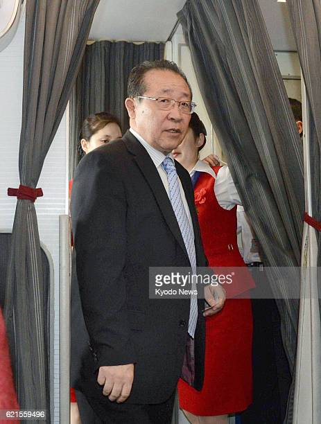 PYONGYANG North Korea North Korea's First Vice Foreign Minister Kim Kye Gwan boards an airplane bound for Beijing at Pyongyang international airport...