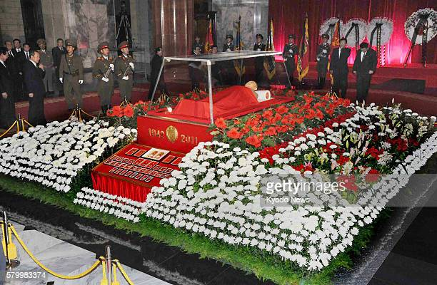 PYONGYANG North Korea The body of North Korean leader Kim Jong Il lies in state at the Kumsusan Memorial Palace in Pyongyang on Dec 20 2011