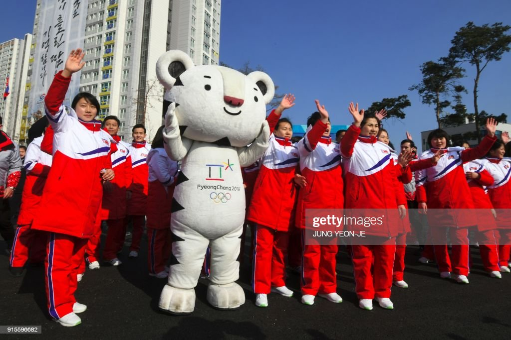 OLY-2018-PYEONGCHANG-WELCOMING-CEREMONY-PRK-MASCOT : News Photo