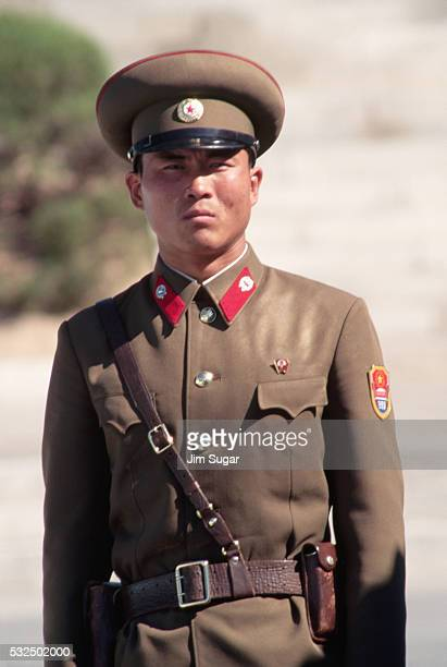 north korean guard - panmunjom stock pictures, royalty-free photos & images