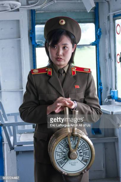 North Korean guide in Uss Pueblo spy ship Pyongan Province Pyongyang North Korea on May 20 2009 in Pyongyang North Korea