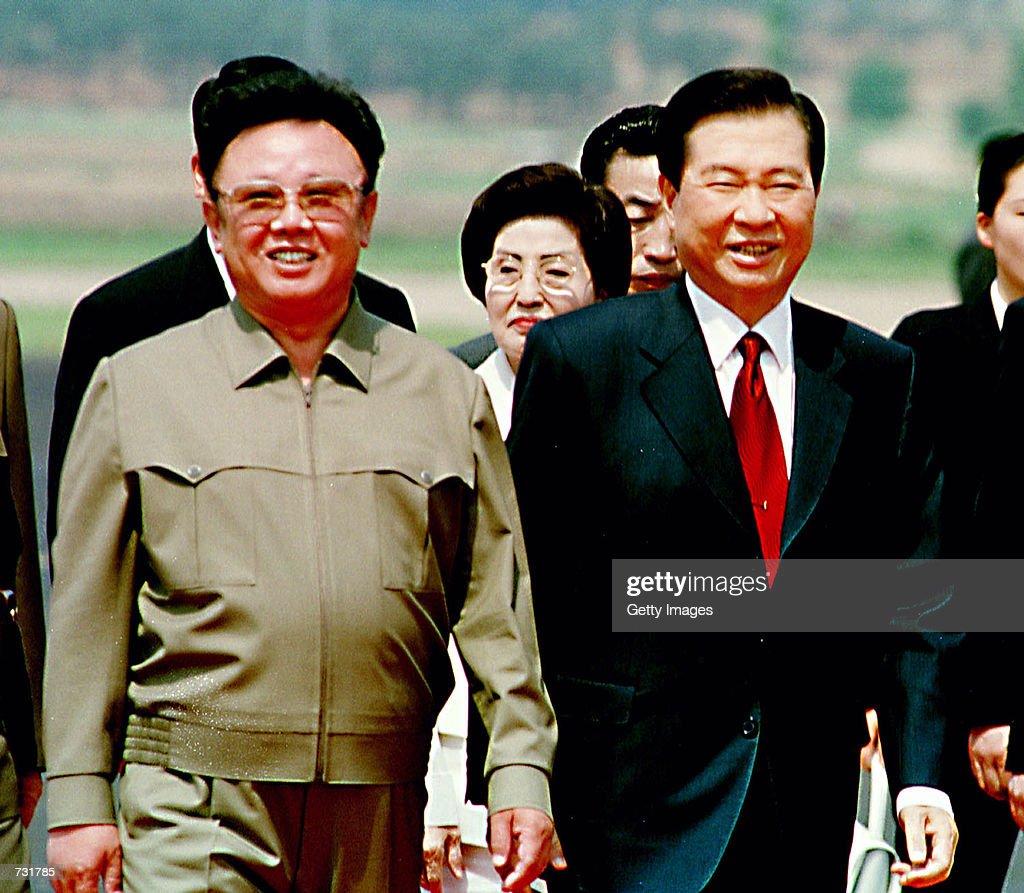 North Korea Latest News: North Korean Leader Kim Jong Il, Left, And South Korean