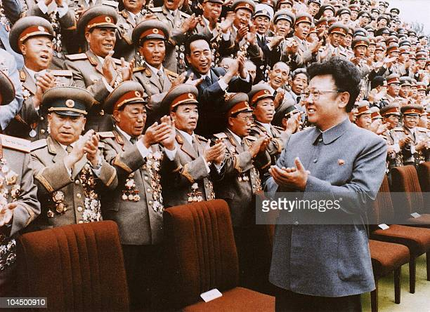 North Korean leader Kim JongIl meets with Korean People's Army personel in September 1988 file photo Kim JongIl was named as the General Secretary of...