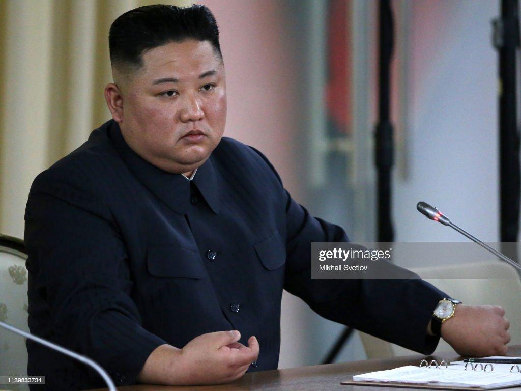 Russian President Vladimir Putin Receives North Korean Leader Kim Jong-un : ニュース写真