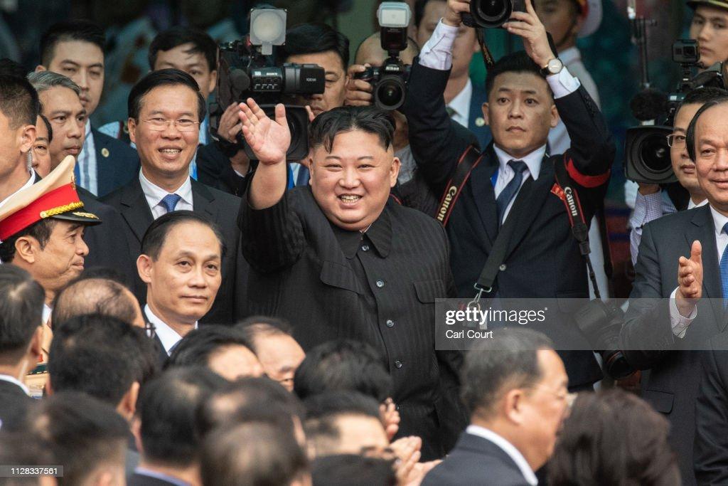 North Korean Leader Kim Jong-un Visits Vietnam : News Photo