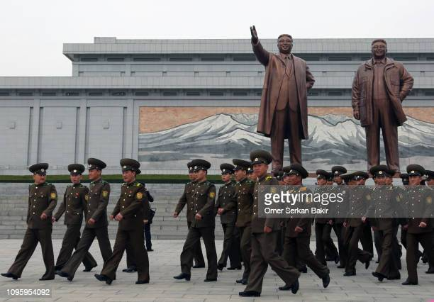 north korean leaders and soldiers - dictator stock pictures, royalty-free photos & images