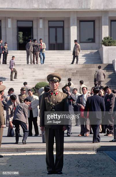 north korean military police - panmunjom stock pictures, royalty-free photos & images