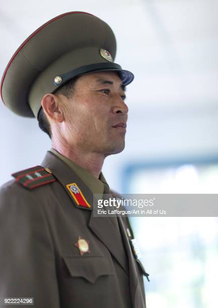North Korean officer in the joint security area of the Demilitarized Zone, North Hwanghae Province, Panmunjom, North Korea on May 19, 2009 in...