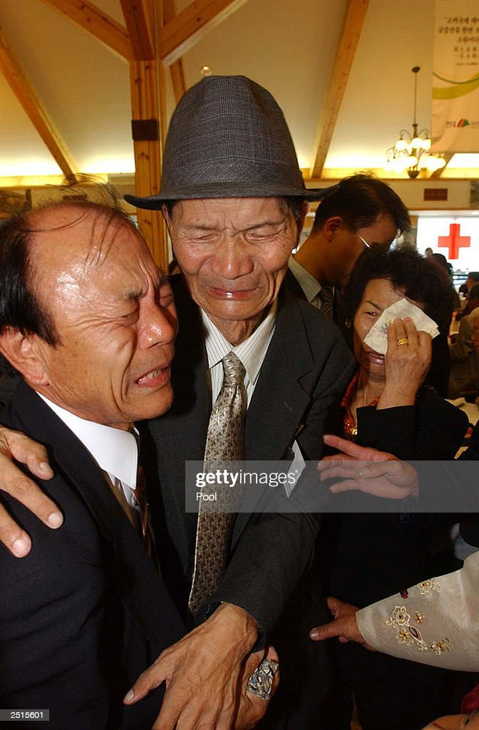 North Korean Oh Jin-Reul hugs his South Korean brother, Oh    News