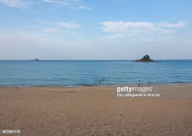 North Korean people having a swim in the east sea North Hamgyong Province Chilbo Sea North Korea on September 13 2011 in Chilbo Sea North Korea