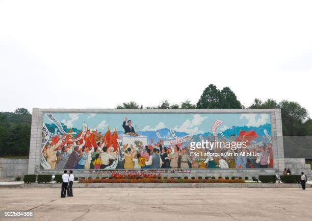 North Korean propaganda billboard depicting Kim Ilsung making a speech Pyongan Province Pyongyang North Korea on September 9 2011 in Pyongyang North...