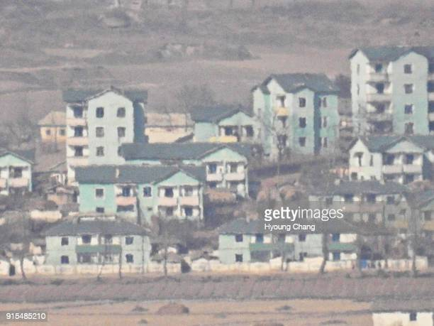 North Korean propaganda village View from Dora Observatory The Observatory is on the South Korean side of the 38th parallel located on top of Dorasan...