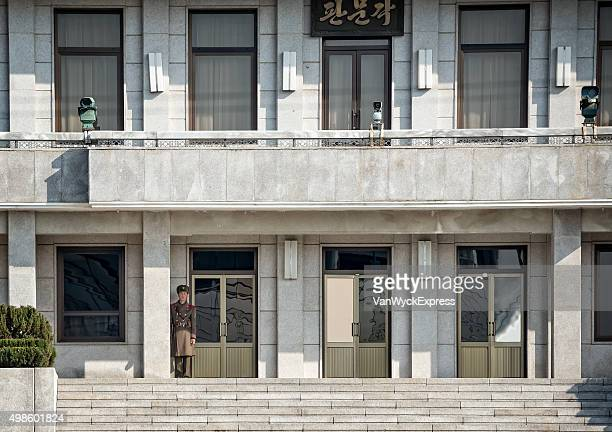 north korean soldier at jsa - panmunjom stock pictures, royalty-free photos & images