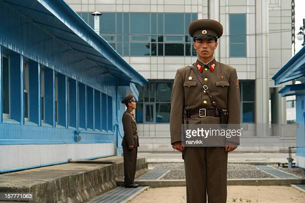North Korean Soldiers at Panmunjom