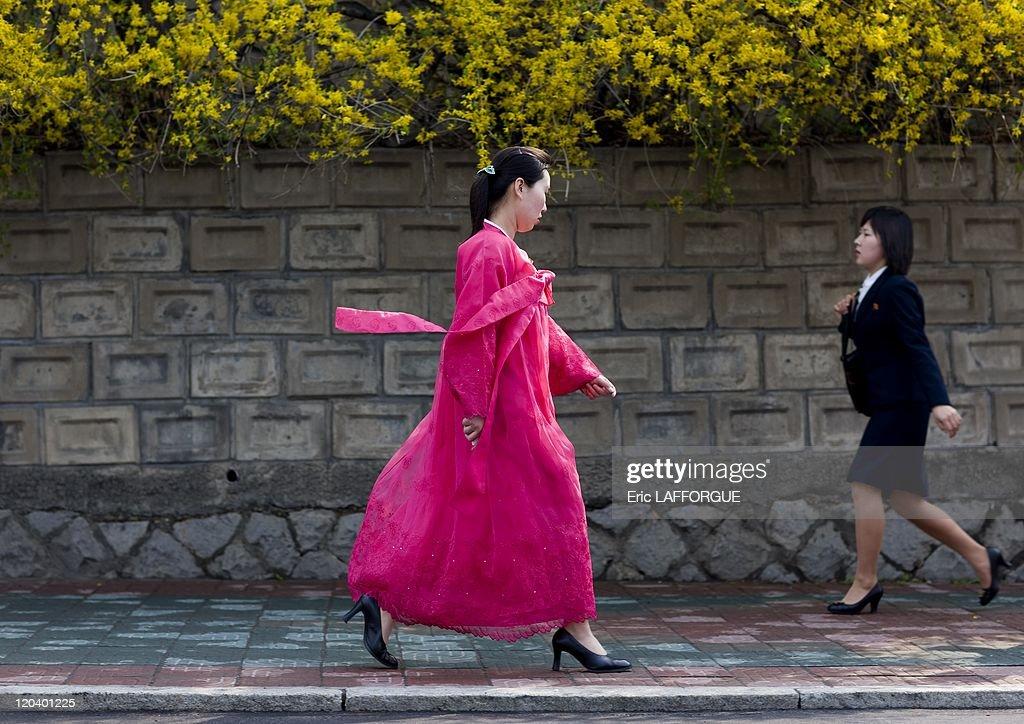 North Korean Women In Pyongyang, North Korea - : News Photo