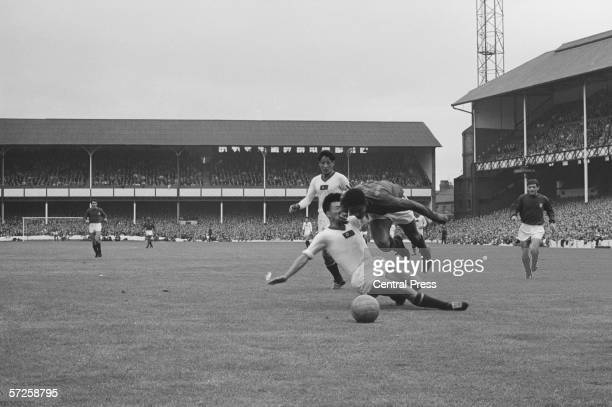 North Korean's Lim ZoongSun tackles Eusebio in the World Cup quarterfinal against Portugal at Goodison Park Portugal won the game 52 23rd July 1966