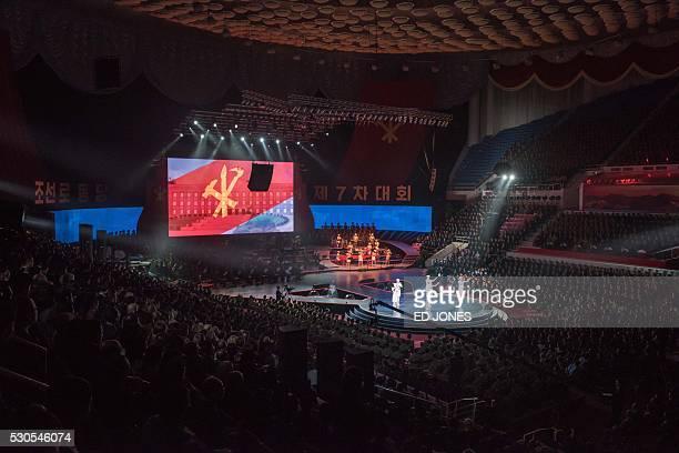 North Korea's allfemale Moranbong Band perform in Pyongyang on May 11 2016 / AFP / Ed Jones