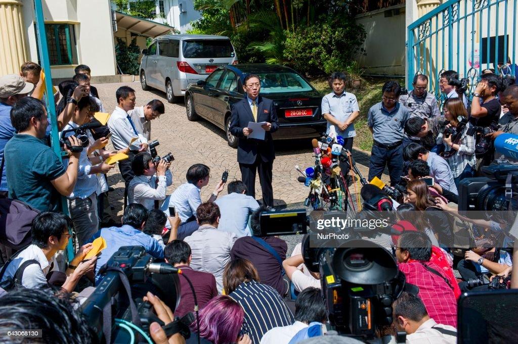 North Korea's ambassador Kang Chol In Malaysia : News Photo