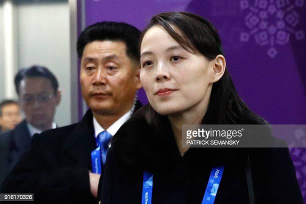 North Korea's Kim Jong Un's sister Kim Yo Jong arrives for the opening ceremony of the Pyeongchang 2018 Winter Olympic Games at the Pyeongchang...