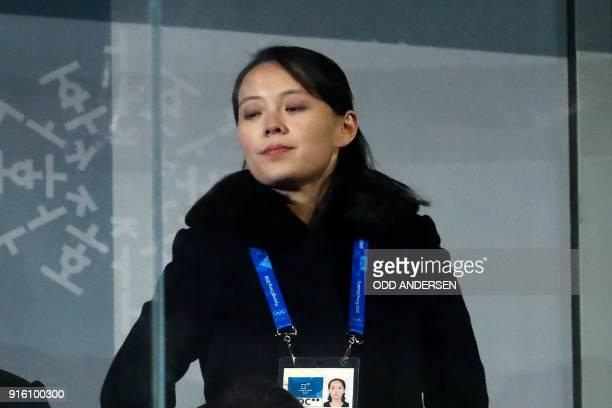 North Korea's leader Kim Jong Un's sister Kim Yo Jong attends the opening ceremony of the Pyeongchang 2018 Winter Olympic Games at the Pyeongchang...