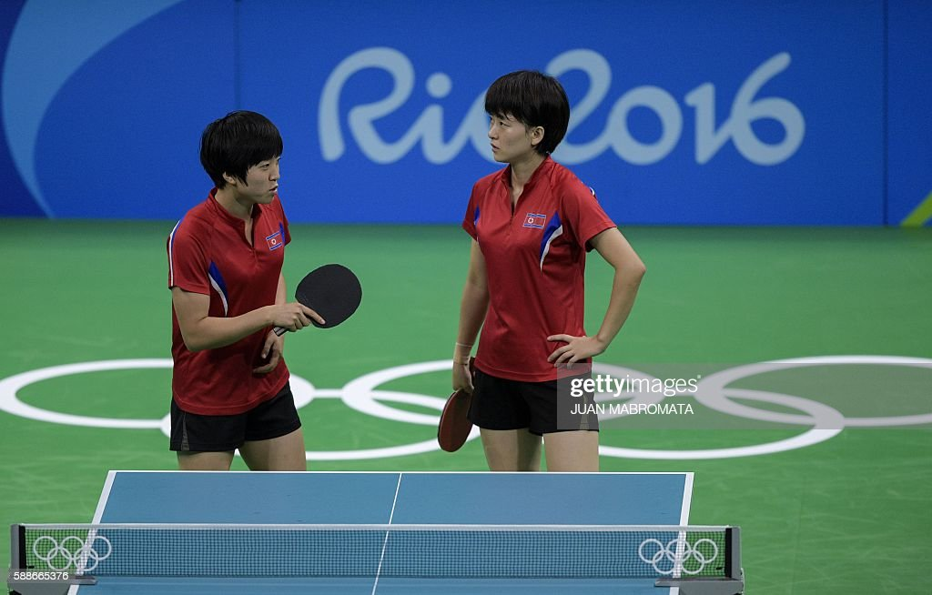 TABLE TENNIS-OLY-2016-RIO-PRK-AUS : News Photo