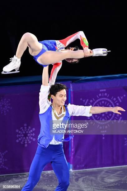North Korea's Ryom Tae Ok and ju North Korea's Kim Ju Sik perform during the figure skating gala event during the Pyeongchang 2018 Winter Olympic...