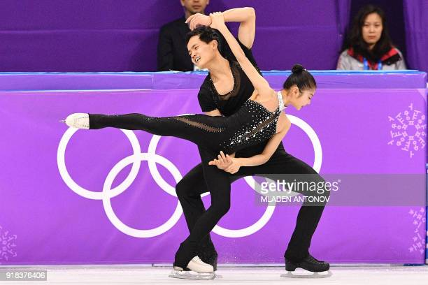 North Korea's Ryom Tae Ok and North Korea's Kim Ju Sik compete in the pair skating free skating of the figure skating event during the Pyeongchang...