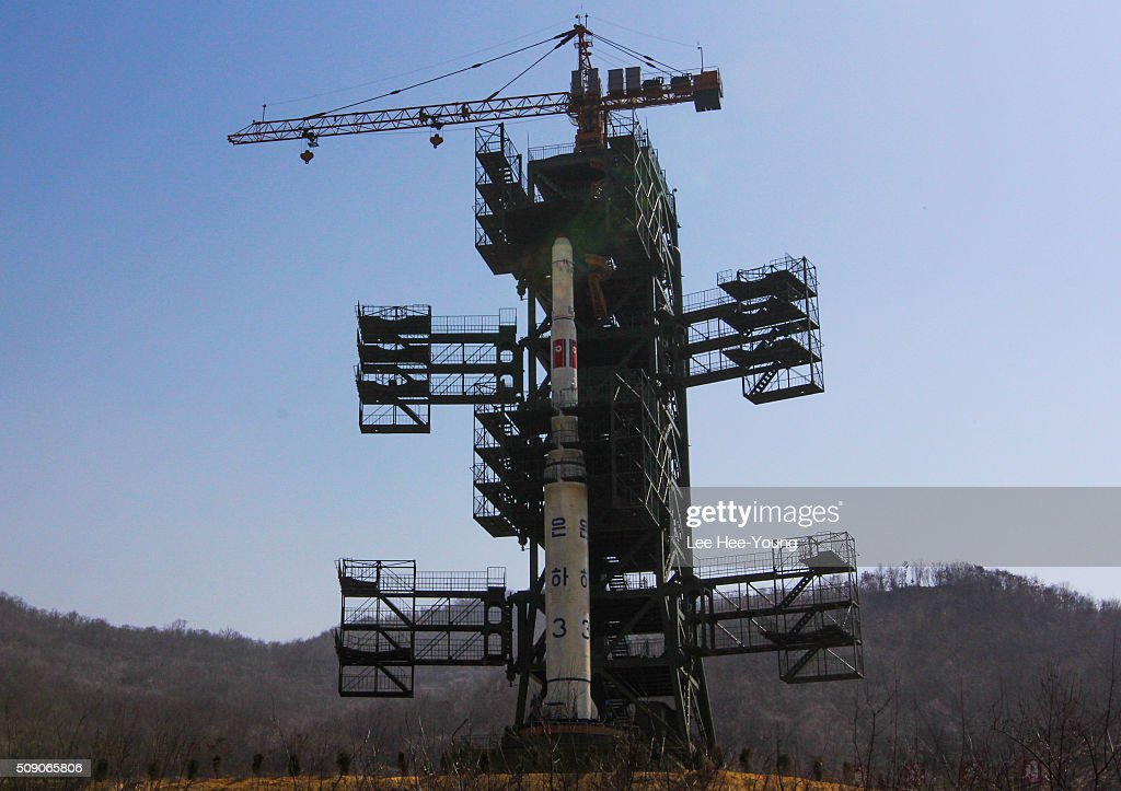 North Koreans Prepare To Launch Unha-3 Rocket : News Photo
