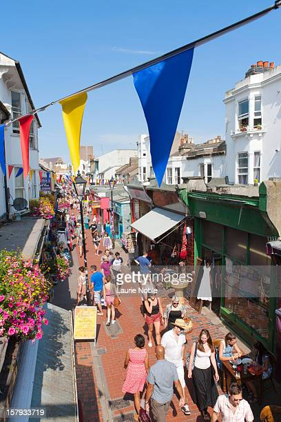 north laines, brighton, sussex, england - brighton stock pictures, royalty-free photos & images