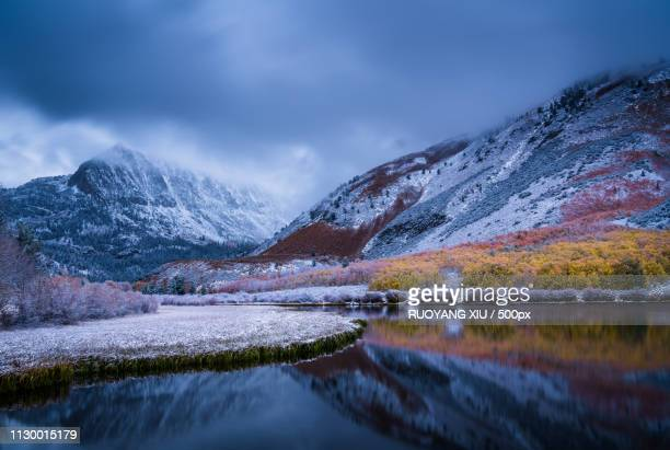 north lake after winterstorm - winter_storm stock pictures, royalty-free photos & images