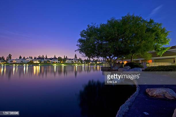 North Lake at twilight, Irvine, California