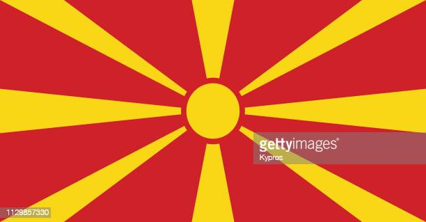 north macedonia flag - macedonia country stock pictures, royalty-free photos & images