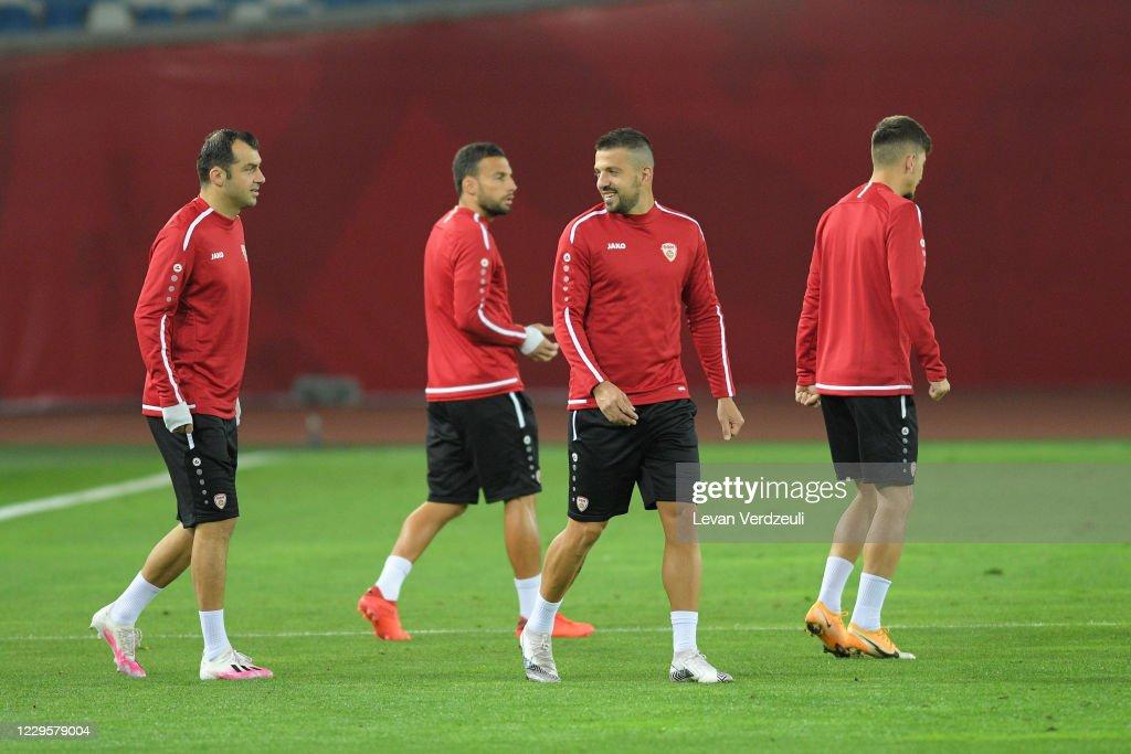 Georgia v North Macedonia Training and Press Conferences: UEFA EURO 2020 Play-Off Finals : ニュース写真