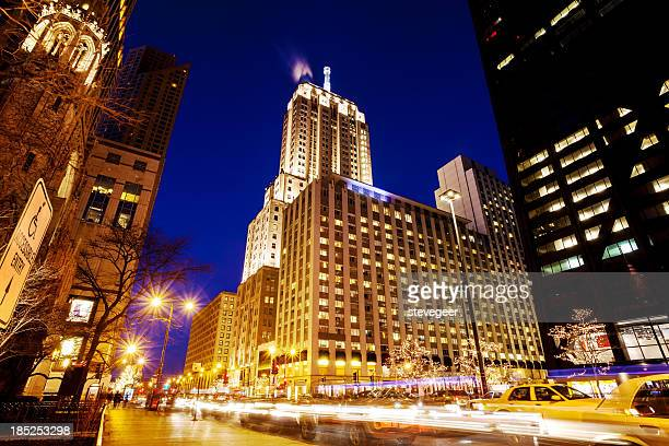 North Michigan Avenue, Downtown Chicago, at Night