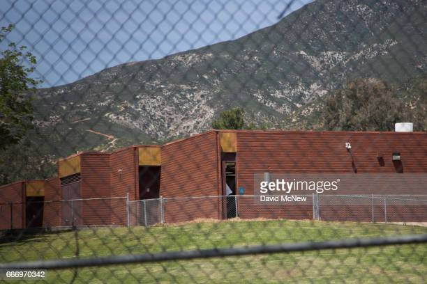 North Park Elementary School appears vacant after a shooting on campus on April 10 2017 in San Bernardino California Two people died including the...