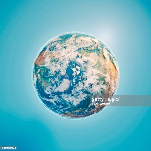 North Pole 3D Render Planet Earth Clouds