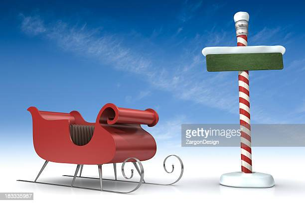 North Pole With sleigh