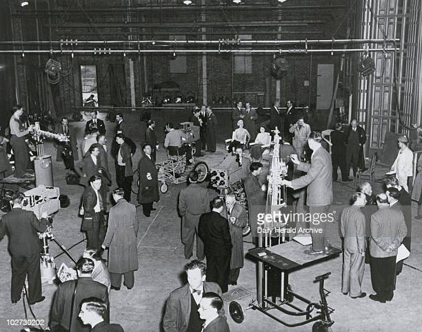 North press viewing of the studio floor Didsbury Greater Manchester 1 May 1957 Photograph by Spencer ABC TV North press viewing of the studio floor...