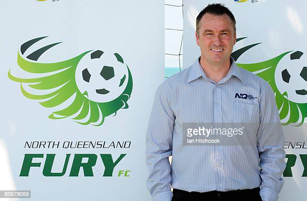 North Queensland Fury coach Ian Ferguson poses after a press conference announcing the expansion of the ALeague at Strand Park on November 6 2008 in...