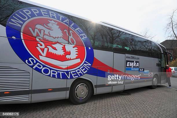 North Rhine-Westphalia, sports, football, Bundesliga, 2010/2011, team bus Wuppertaler SV Borussia